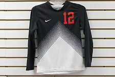 Kid's Nike #12 Long Sleeve Game Jersey Black/White/Red Brand New