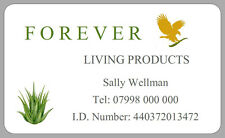 21 FOREVER LIVING PRODUCT STICKERS ADDRESS LABELS ALOE VERA GOODS PERSONALISED