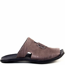 Cydwoq Weather Slide Sandals for Men in Gray Brown Leather
