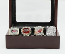 A Set(4pcs) 1997 1998 2002 2008 Detroit Red Wings Stanley Cup Championship Ring