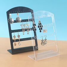 48 Holes Earrings Jewelry Display Plastic Rack Stand Holder Chic New Organizers