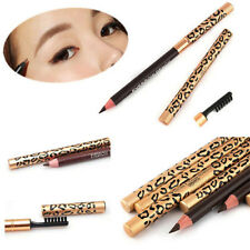 Waterproof Make Up Leopard Longlasting Eyeliner Eyebrow Pencil With Brush 5Color