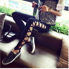 Fashion Personality Visual Punk Gothic Rock hole hollow thin sexy leggings Pants