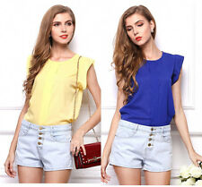 Women Sleeveless Vest Shirt Top Blouse Ladies Summer Loose Casual Chiffon Tops g
