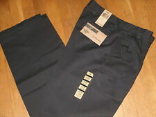 Mens Dockers True Chino Dress Pants Khaki D4 Relaxed Straight Fit Pleated Black