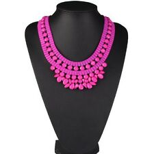 New Arrival Rhinestone Beads Cluster Chunky Choker Bib Statement Necklace Collar