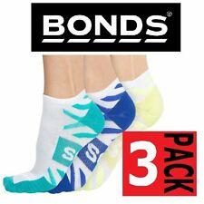 Mens Bonds 3 PACK Pairs  Active Boost Sports Gym Low Cut Ankle Socks 6-10 11-14