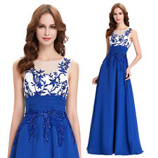 Apllique Chiffon Bridesmaid Formal Gown Ball Party Cocktail Evening Prom Dress