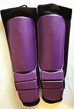 PURPLE on Black Wrestling Kick Pad Kickpads NEW Pro Wrestling Lucha Libre Gear
