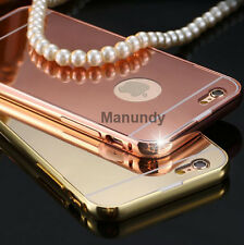 Luxury Aluminum Ultra-thin Mirror Metal Case Cover for Apple iPhone 5 5s 6 6s 6+