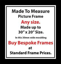 Made to measure Custom Made Bespoke Picture Frames London| 30mm Wide Moulding UK