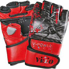 VELO Boxing MMA Gloves Grappling Punching Bag Training Martial Arts Sparring UFC