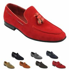 New Mens Faux Suede Leather Tassel Loafers Smart Driving Slip on Shoes Size 6 12