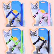 1Pc Professional Cat Durable Adjustable Harness Collar Animal Walking Lead Pet