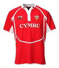 NEW ADULTS MENS HAKA WELSH CYMRU RED RUGBY COOLDRY SHIRT WALES