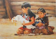 "'Navajo Dolls' Limited Edition Print by Carol Theroux 15"" x 21"" Signed S/N"