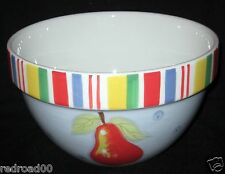 Baum Bros Style Eyes Fruit Stripe Collection Large Serving Bowl Multicolor