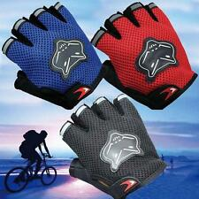 Soft Half Finger Gloves Outdoor Sports Antiskid Racing Cycling Bicycle Gel Glove