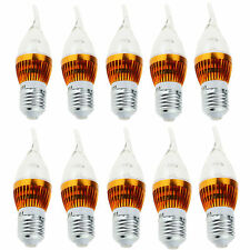 10x Dimmable E27 3W 6W 9W LED Flame Candle Chandelier Light Bulb Lamp White