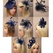Navy Fascinator on Headband/ Clip-in for Weddings, Races and Occasions