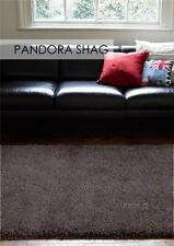 Pan Cocoa FIVE SIZES New Modern Thick X Heavy Shaggy Floor Rug FREE DELIVER