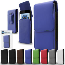 Premium Leather Vertical Pouch Holster Case Clip For Orange Barcelona