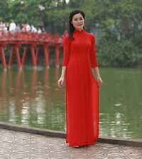 Sexy AO DAI, PANT Vietnam CUSTOM MADE, Chiffon, Red Dress and Pant, Customized