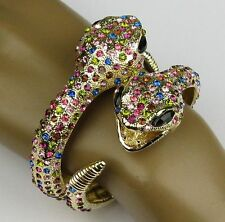 luxurious Big Snake Bracelet Cuff Rhinestone Crystal Animal bangle personality