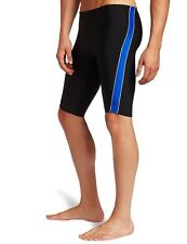 Speedo Boys/Mens Mercury SPL Jammer Swimsuit Waist BLK/BLUE Sizes 20-28