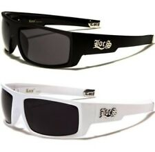 NEW LOCS SUNGLASSES BLACK WHITE MENS LADIES BIG RETRO LARGE WRAP DESIGNER UV400
