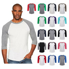 New Next Level Premium 3/4 Sleeve Raglan Baseball Tee Tri-Blend Plain T-Shirt
