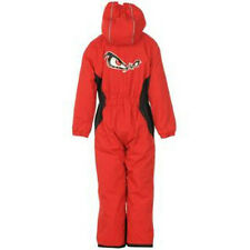 CHILDS NO FEAR RED  SKI WINTER THERMAL WINDPROOF SUIT AGE 3/4