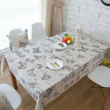 Elegant Black Big Butterfly Dinning Coffee Table Cotton Linen Cloth Covering O
