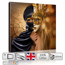 BROWN ABSTRACT WOMAN MODERN CANVAS WALL ART FRAMED PRINTS PICTURES PHOTO DECOR