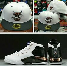 Matching New Era Chicago Bulls 5950 fitted hat for Jordan 17 Copper