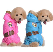 Dog Clothes Winter Warm Coat Pet Jacket thicken Puppy Apparel Clothing Hoodie tr