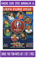 PANINI UEFA Euro 2016 Adrenalyn XL PICK your TEAM MATE 273 to 395