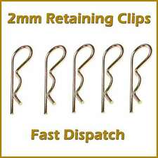 R Clips 2mm Spring Pins Retaining Hair Cotter Hair Pin Zinc Coated 45mm Length