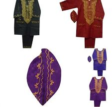 Men Dashiki Outfit Brocade Pant Suit African Clothing Traditional Pant Set 1Size