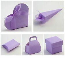 Luxury DIY Wedding Party Favour Gift Boxes - Lilac Silk Range