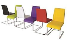 Set Of 2 Viola Faux Leather Dining Chairs In 6 Colours - Mix & Match