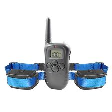 LCD 100LV Level Vibration Remote Training Collar Trainer for 1 or 2 Dogs EE#B