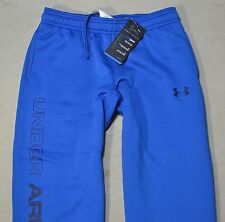 NWT BOYS YOUTH UNDER ARMOUR ROYAL/NAVY SWEAT TRACK PANTS SZ M L