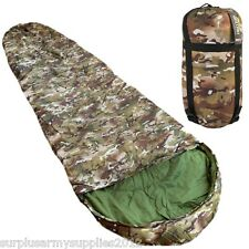 MILITARY SLEEPING BAG + COMPRESSION SACK BTP MTP BRITISH ARMY CADET SCOUT FIELD