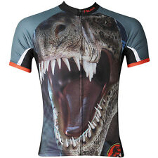 Tyrannosaurus Men's Road Team Bike Wear Racing Cycling Jersey Top Sports Shirt