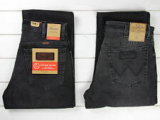 NEW WRANGLER TEXAS STRETCH JEANS BLACK/GREY REGULAR FIT STRAIGHT LEG ALL SIZES