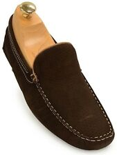 Steve Madden Brown Mens Perforated Design Driving Loafer Trending Casual Shoe