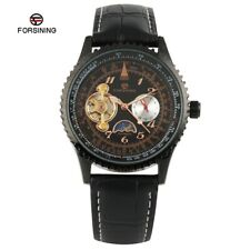 FORSINING Luxury Mens Army Sport Leather Auto Mechanical Wrist Watch Xmas Gift