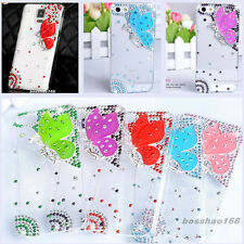 Bling Diamond crystal butterfly clear ultra-thin Soft TPU back case skin cover G