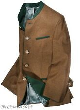 Ziller German Austrian Men's Sport Coat Jacket - Brown - Wool